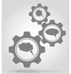 gear mechanism concept 17a vector image