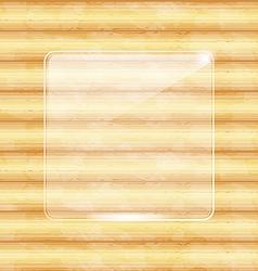 Glass fragile framework wooden texture vector image