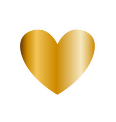 golden heart icon clip art isolated on white vector image