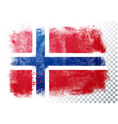grunge and distressed flag norway vector image