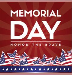 happy memorial day poster flag american vector image