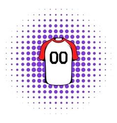 Hockey sweater icon comics style vector image