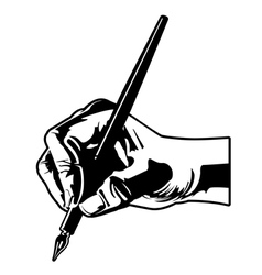 holding a pen vector image