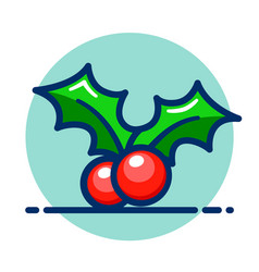 Holly berry icon clipart vector