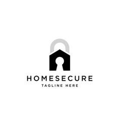 home secure logo design symbol template vector image