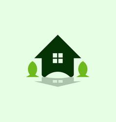 house leaf garden creative business logo vector image