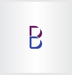 icon letter b blue purple logo symbol vector image