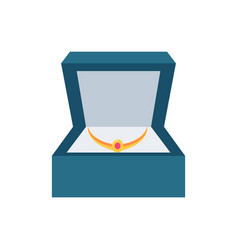 jewelry placed in box present vector image