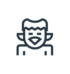 Kappa icon isolated on white background outline vector