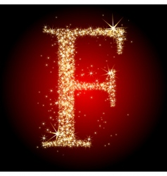 Letter star f vector