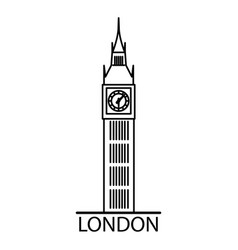 london big ben linear vector image