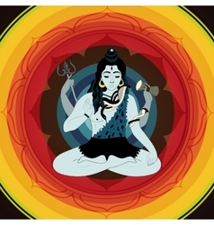 Lord Shiva Hindu gods Indian vector