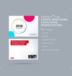 material design presentation template with vector image