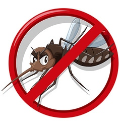 Mosquito control sign on white background vector