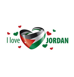 National flag jordan in shape a vector