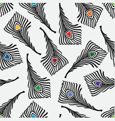 Pattern of the decorative feathers vector