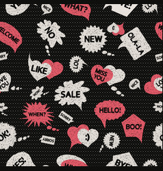 pattern speech dark vector image