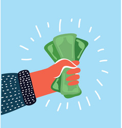 pay us dollar on a white background vector image