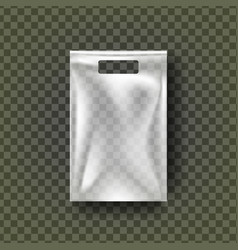 Plastic hang pouch transparent pocket wrap vector