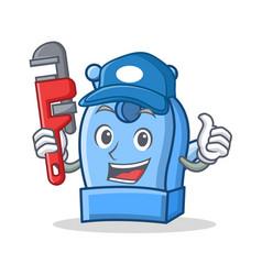 Plumber pencil sharpener character cartoon vector