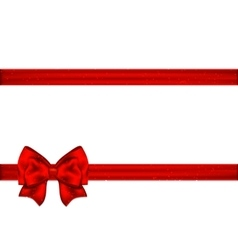 Red ribbon with bow on a white background vector