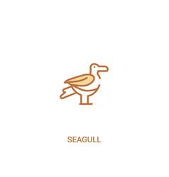 Seagull concept 2 colored icon simple line vector
