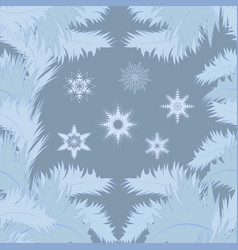 seamless frosty pattern on the glass vector image