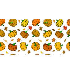 seamless rectangular autumn pattern vector image