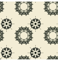Seamless Tile Print with stylized oriental flowers vector image