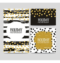 set of beautiful hand drawn cards templates Text vector image