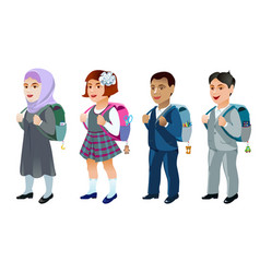 set of student vector image