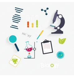 Set Science Lab Objects and Icons vector
