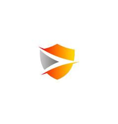 shield protection company logo vector image
