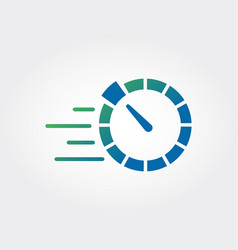 Speed meter icon vector