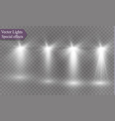 spotlight on a transparent background the vector image