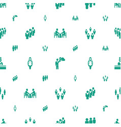Staff icons pattern seamless white background vector