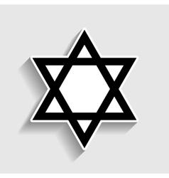 Star Sticker style icon vector