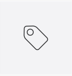 tag outline icon vector image