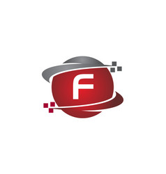 technology transfer letter f vector image