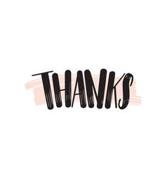 thank you creative lettering gratitude vector image