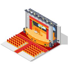 Theatre interior concept vector