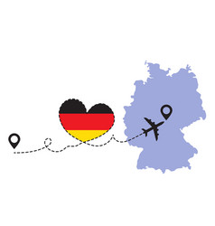 travel to germany airplane vector image