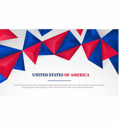 Usa united states america template banner full vector