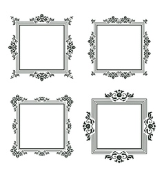 vintage frame set three vector image vector image