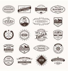 vintage retro logos labels typography logo vector image