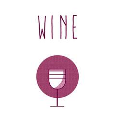 wine cup round icon vector image vector image