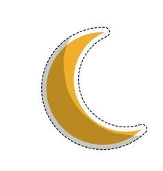 Yellow moon icon vector
