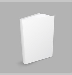 closed white book vector image vector image