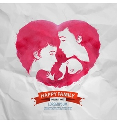 happy family logo design template motherhood or vector image