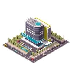isometric hospital vector image vector image